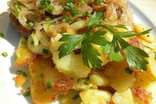 Receta de patatas fritas con cebolla