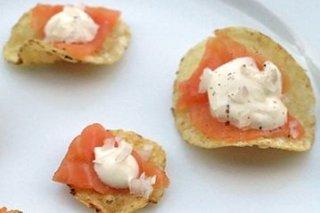 Receta de patatas fritas con salmón