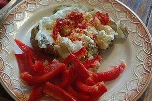 Receta de patatas picantes con pimientos