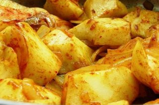 Receta de patatas rehogadas