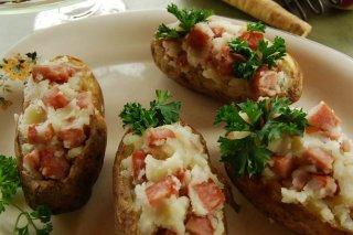 Receta de patatas rellenas al horno