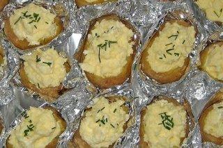 Receta de patatas rellenas asadas