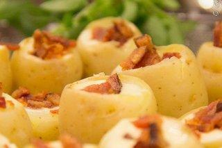 Receta de patatas rellenas de queso