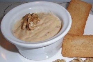 Receta de paté de queso y nueces