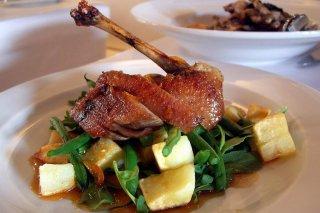 Receta de pato asado con verduras