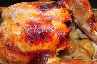 Receta de pavo al horno con manzana