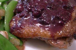 Receta de pechuga de pato con salsa de arándanos