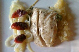 Receta de pechuga de pollo con queso y tallarines