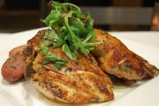 Receta de pechuga de pollo con rúcula