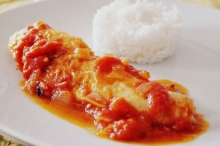 Receta de pechuga de pollo en salsa de tomate