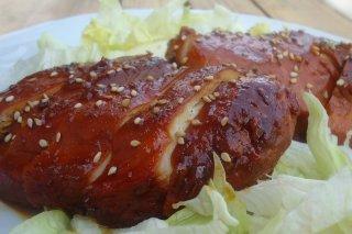 Receta de pechugas de pollo en salsa dulce