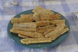 Receta de pencas rellenas con salsa de almendras