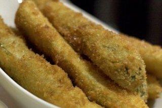Receta de pepino rebozado frito