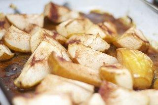 Receta de peras al horno y crema de caramelo