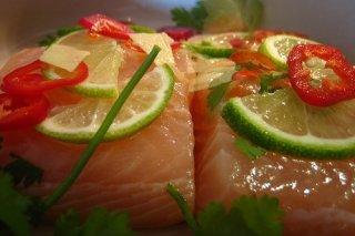 Receta de pescado al cilantro