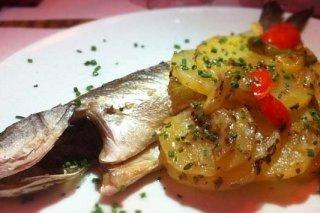 Receta de pescado al horno con patatas