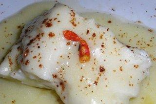 Receta de pescado con bechamel