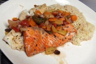 Receta de pescado empapelado con arroz