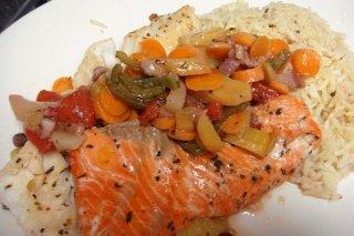 Receta de pescado empapelado con mejillones