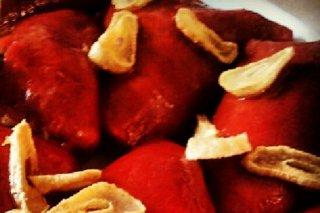 Receta de pimientos al ajo