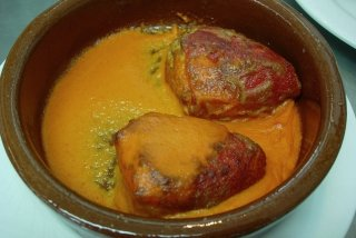 Receta de pimientos rellenos con salsa de brandy