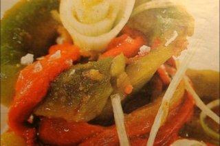 Receta de pimientos rojos y verdes asados