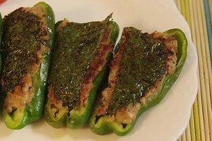 Receta de pimientos verdes rellenos de carne