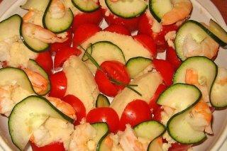Receta de pincho de tomate y langostino