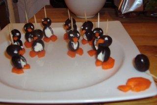 Receta de pingüinos de aceituna