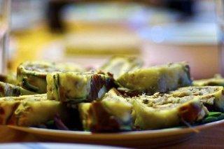 Receta de pionono salado vegetariano