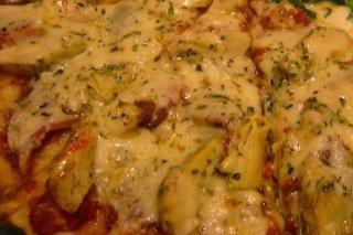Receta de pizza de alcachofas con queso