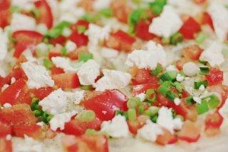 Receta de pizza de queso y tomate