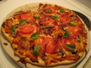 Receta de pizza primavera