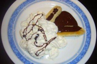 Receta de plátanos con nata y chocolate