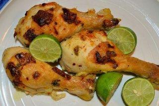 Receta de pollo a la lima con menta