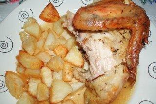 Receta de pollo a l'ast