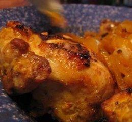 Receta de pollo al brandy con miel