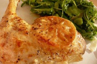 Receta de pollo al horno con naranja y limón