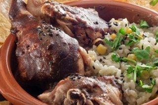 Receta de pollo al mole rojo