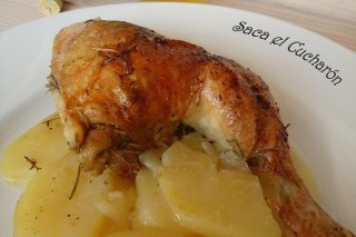 Receta de pollo asado a la sidra