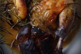 Receta de pollo asado con higos