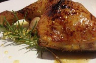 Receta de pollo asado con miel y limón