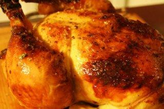 Receta de pollo asado crujiente