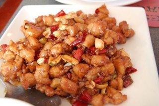 Receta de wok de pollo marinado en salsa de cacahuetes