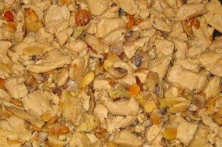 Receta de pollo con almendras y pasas