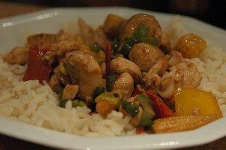 Receta de pollo con arroz y champiñones