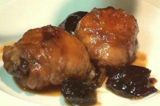 Receta de pollo con ciruelas y salsa de jerez