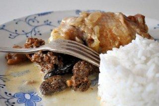 Receta de pollo con colmenillas