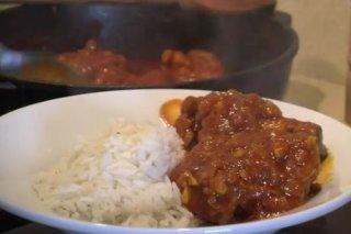 Receta de pollo  con curry casero