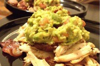 Receta de pollo con guacamole